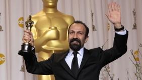 "Asghar Farhadi winning the Best Foreign Language Film Oscar for ""A Separation"""
